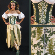 Green Leaves Underbust Corset