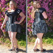 Taffeta Mini Bustle
