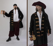 Mens Pirate Coat