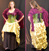 Satin Brocade Bustle