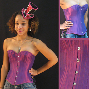 Purple Irdescent Overbust Corset