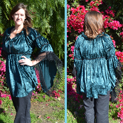 Adorned Velvet Gwendelyn Blouse
