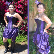 Purple Pintuck Overbust Corset